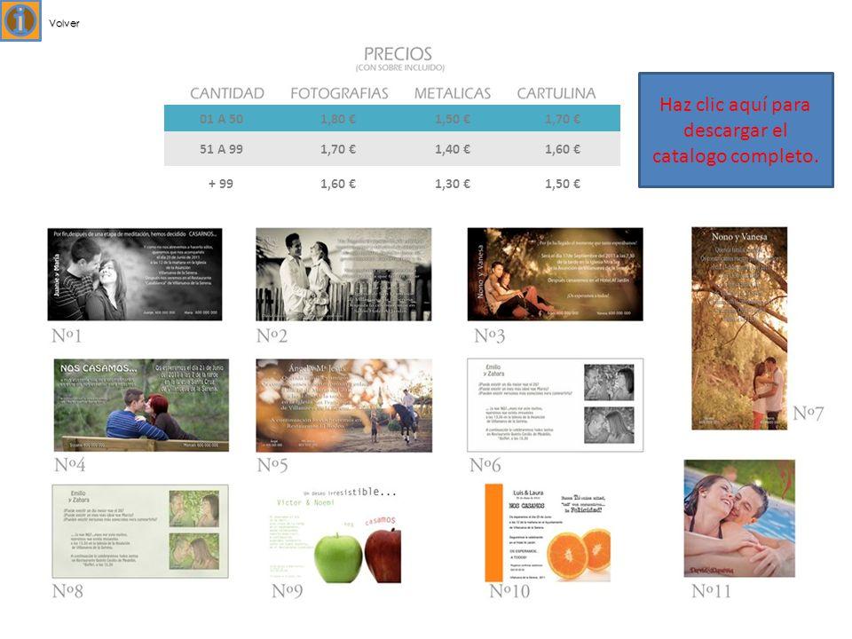 01 A 501,80 1,50 1,70 51 A 991,70 1,40 1,60 + 991,60 1,30 1,50 Volver Haz clic aquí para descargar el catalogo completo.