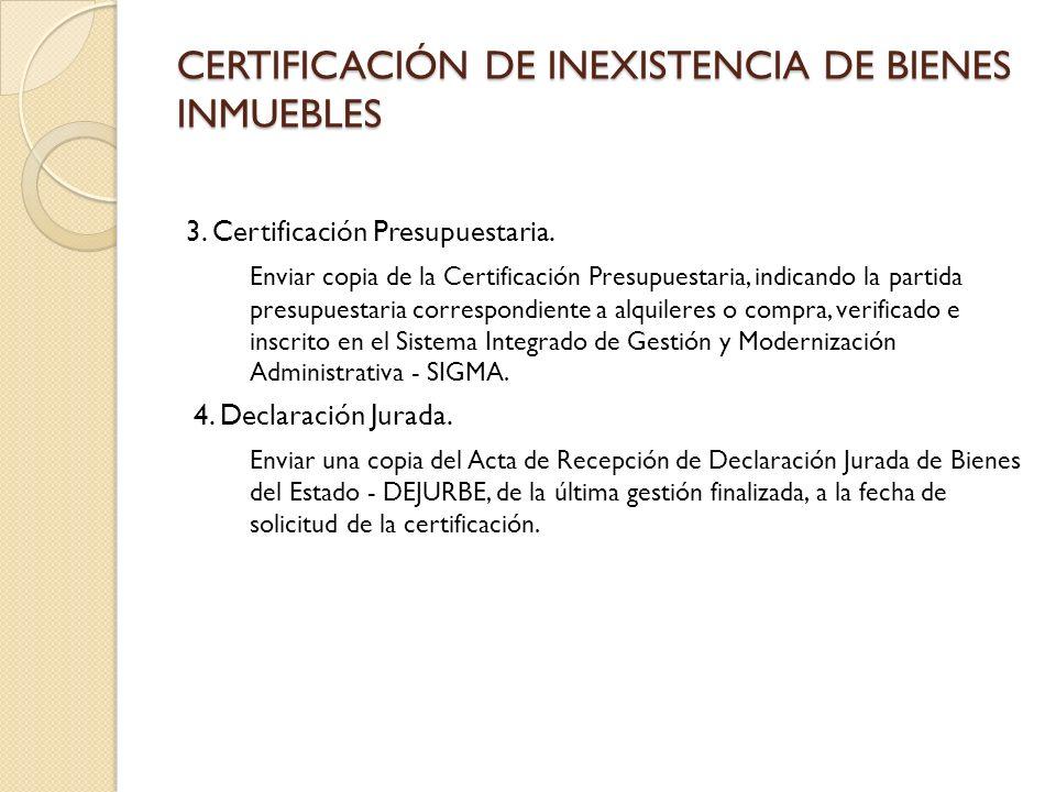 El SENAPE, a través de sus sistemas informáticos, brinda los siguientes servicios: Certificación de Inexistencia de Bienes Inmuebles.