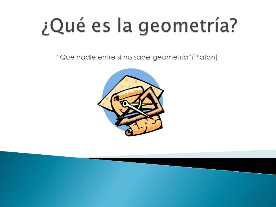 ¿Dónde hay Geometría.