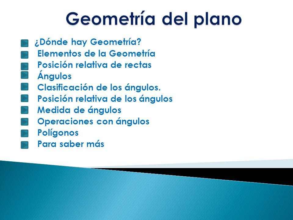 ¿Dónde hay Geometría?