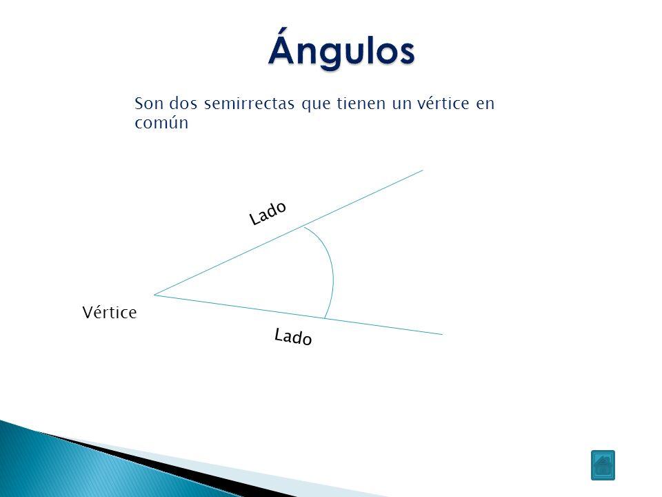Ángulo recto: si sus lados son perpendiculares Ángulo nulo: si sus lados son dos semirrectas coincidentes Ángulo llano: si sus lados están sobre la misma recta y o so coincidentes Atendiendo a la posición de los lados Ángulo agudo: Ángulo cuya abertura es inferior a la de un ángulo recto Ángulo obtuso: Ángulo cuya abertura es superior a la de un ángulo recto Atendiendo a su abertura Clasificación de los ángulos