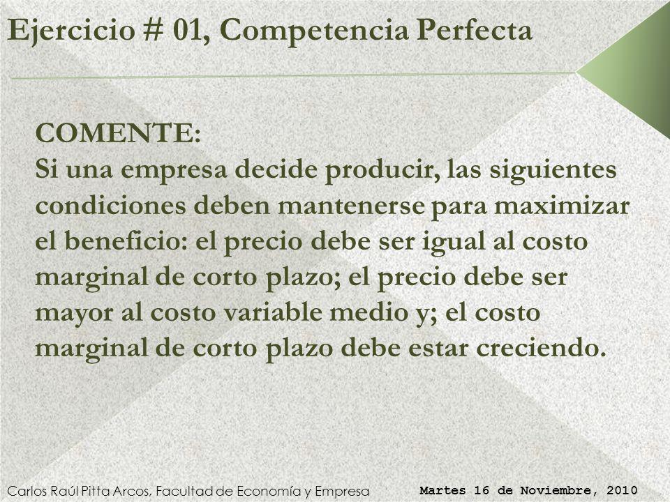 Martes 16 de Noviembre, 2010 Universidad Diego Portales Facultad de Economía y Empresa Segundo Semestre de 2010 Microeconomía I Profesor: Carlos Raúl