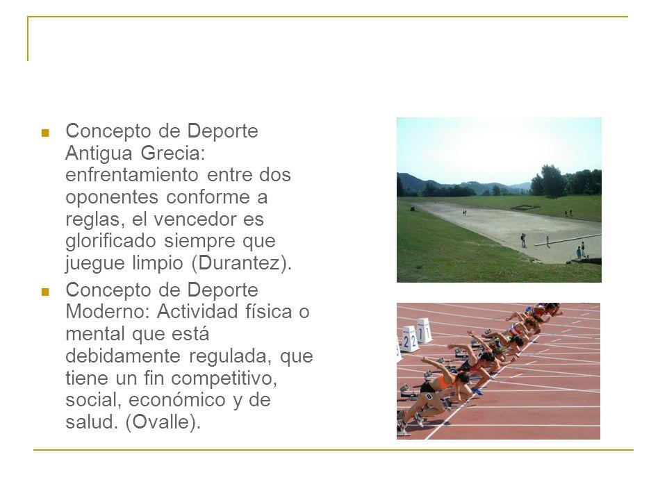 Concepto de Deporte Antigua Grecia: enfrentamiento entre dos oponentes conforme a reglas, el vencedor es glorificado siempre que juegue limpio (Durant
