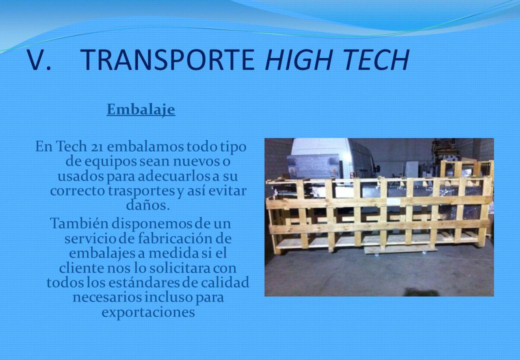 Embalaje En Tech 21 embalamos todo tipo de equipos sean nuevos o usados para adecuarlos a su correcto trasportes y así evitar daños. También disponemo