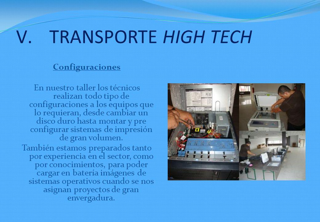 Configuraciones En nuestro taller los técnicos realizan todo tipo de configuraciones a los equipos que lo requieran, desde cambiar un disco duro hasta montar y pre configurar sistemas de impresión de gran volumen.
