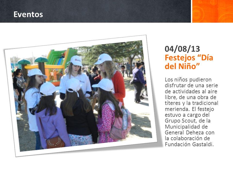 04/08/13 Festejos Día del Niño Los niños pudieron disfrutar de una serie de actividades al aire libre, de una obra de títeres y la tradicional meriend