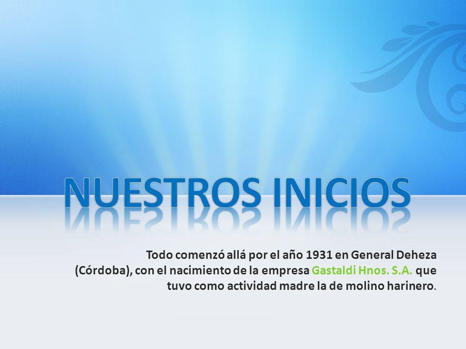 Todo comenzó allá por el año 1931 en General Deheza (Córdoba), con el nacimiento de la empresa Gastaldi Hnos. S.A. que tuvo como actividad madre la de