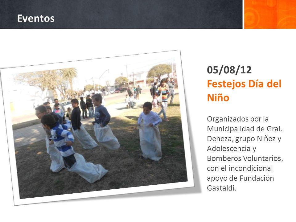 05/08/12 Festejos Día del Niño Organizados por la Municipalidad de Gral. Deheza, grupo Niñez y Adolescencia y Bomberos Voluntarios, con el incondicion