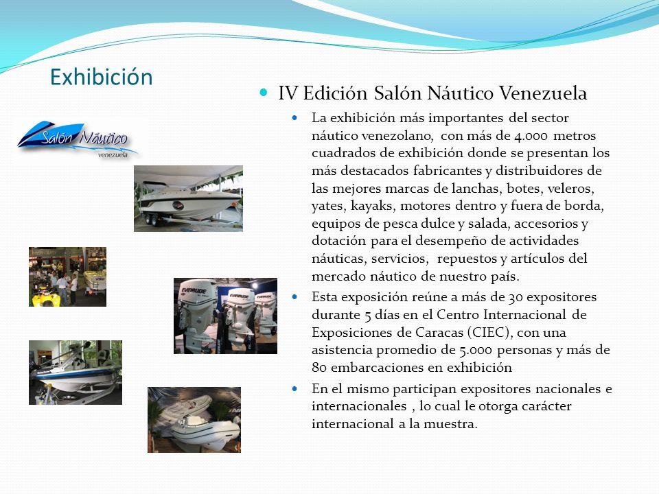 Exhibición IV Edición Salón Náutico Venezuela La exhibición más importantes del sector náutico venezolano, con más de 4.000 metros cuadrados de exhibi