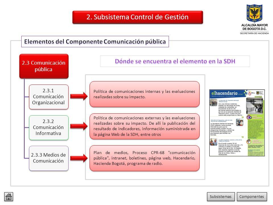 2.2 Información 2.2.1 Información Primaria 2.2.2 Información Secundaria 2.2.3 Sistemas de Información Información de entrada en las Caracterizaciones