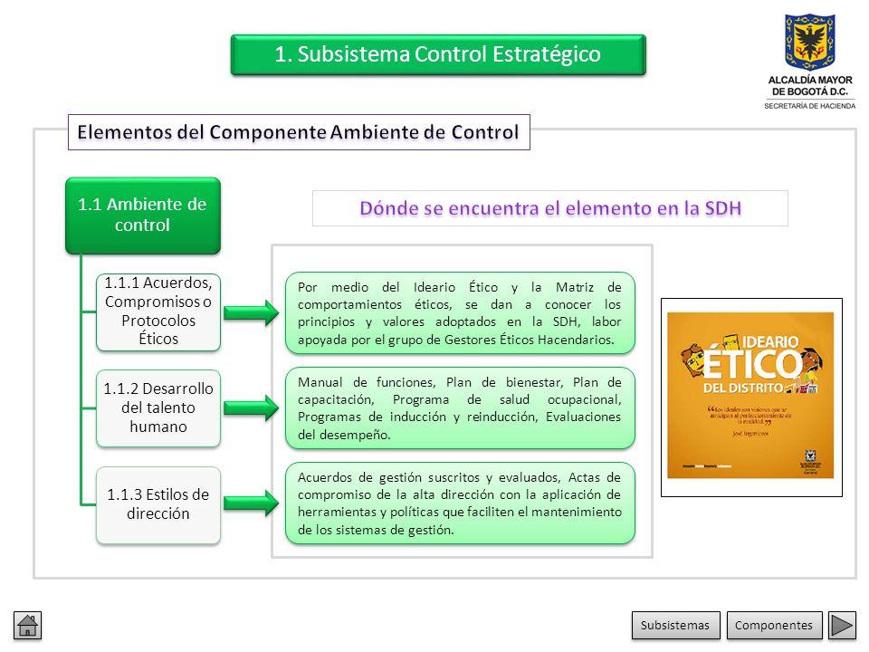 3. Subsistema Control de Evaluación 3.1 Autoevaluación 3.2 Evaluación independiente 3.3 Planes de mejoramiento Examen al Sistema de Control Interno (S