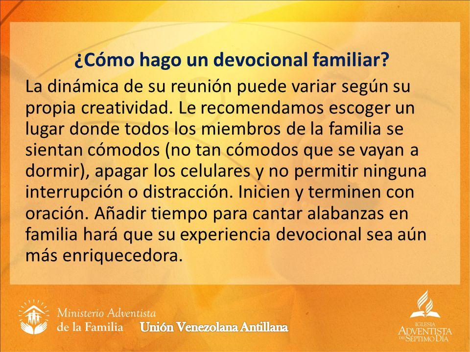 ¿Por qué el culto familiar no debe sustituir la participación de mi familia en las reuniones de educación y adoración de la iglesia.