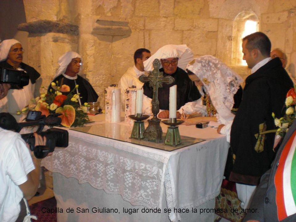 Iglesia de Selargius, celebración del matrimonio Selargino.