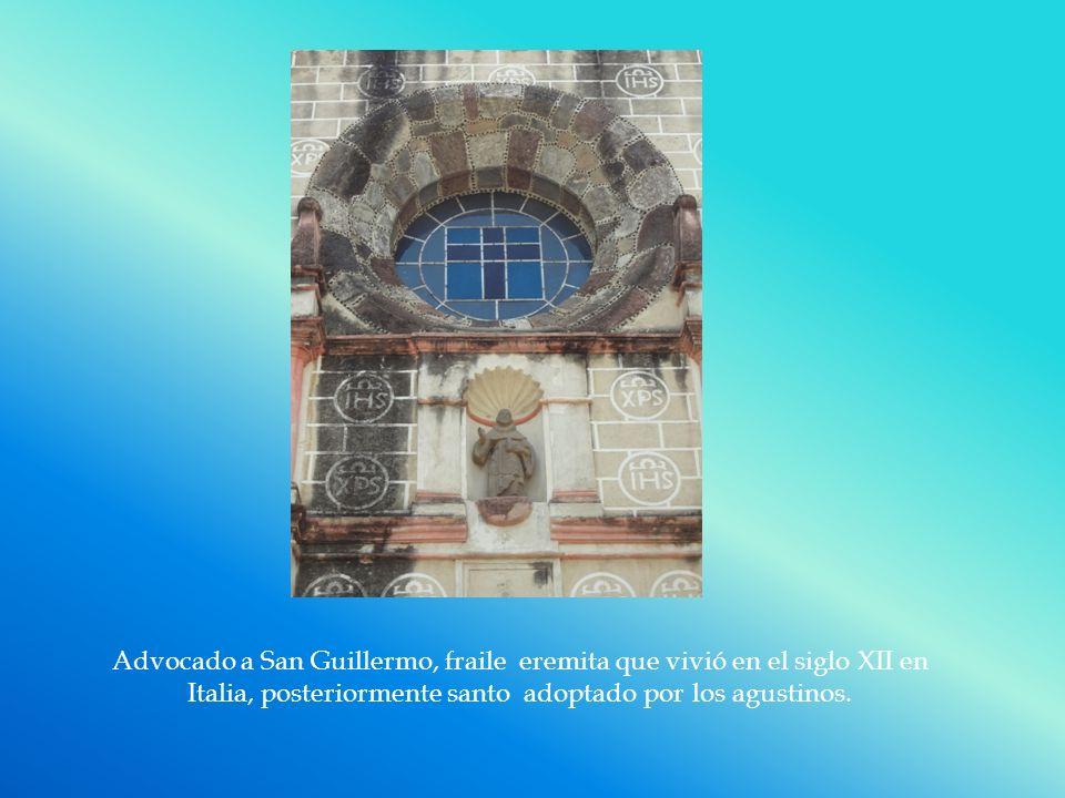 Advocado a San Guillermo, fraile eremita que vivió en el siglo XII en Italia, posteriormente santo adoptado por los agustinos.
