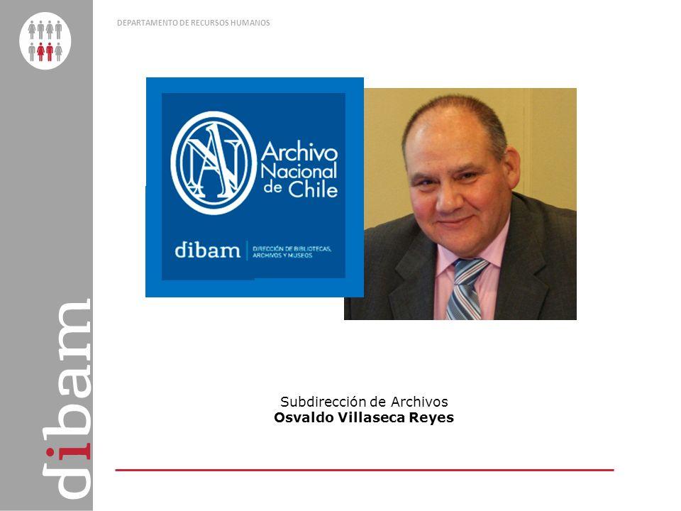 DEPARTAMENTO DE RECURSOS HUMANOS Subdirección de Archivos Osvaldo Villaseca Reyes