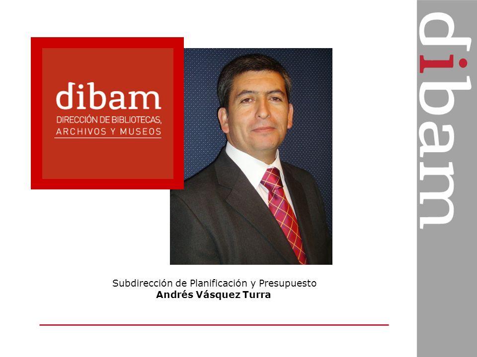 Subdirección de Planificación y Presupuesto Andrés Vásquez Turra