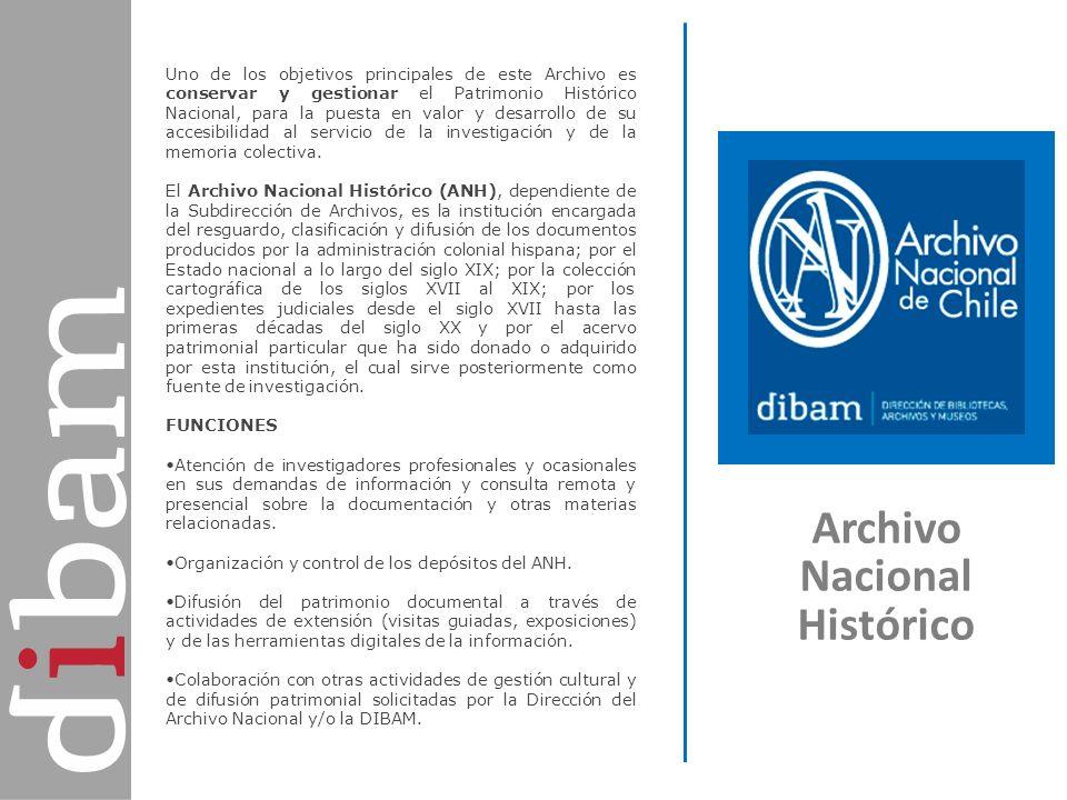 Archivo Nacional Histórico Uno de los objetivos principales de este Archivo es conservar y gestionar el Patrimonio Histórico Nacional, para la puesta