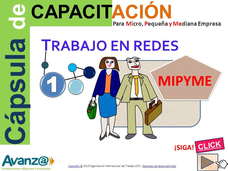 T RABAJO EN REDES Cápsula de CAPACITACIÓN Para Micro, Pequeña y Mediana Empresa ¡SIGA.