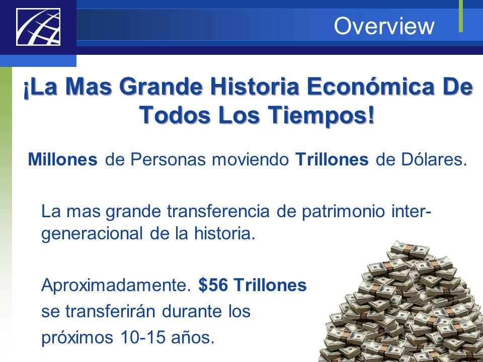 Overview ¡La Mas Grande Historia Económica De Todos Los Tiempos! Millones de Personas moviendo Trillones de Dólares. La mas grande transferencia de pa