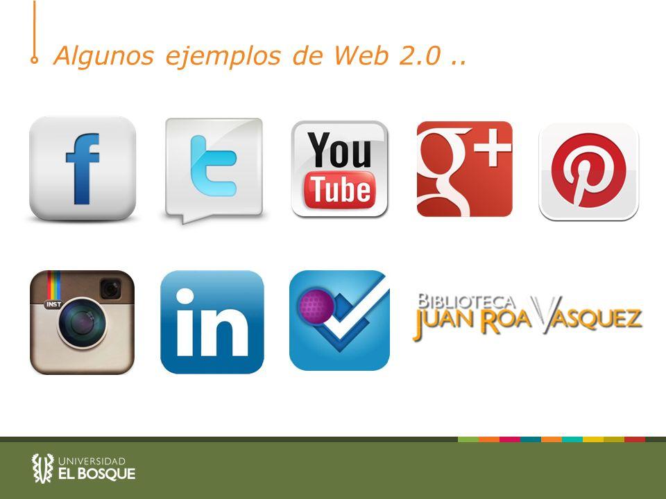 Algunos ejemplos de Web 2.0..