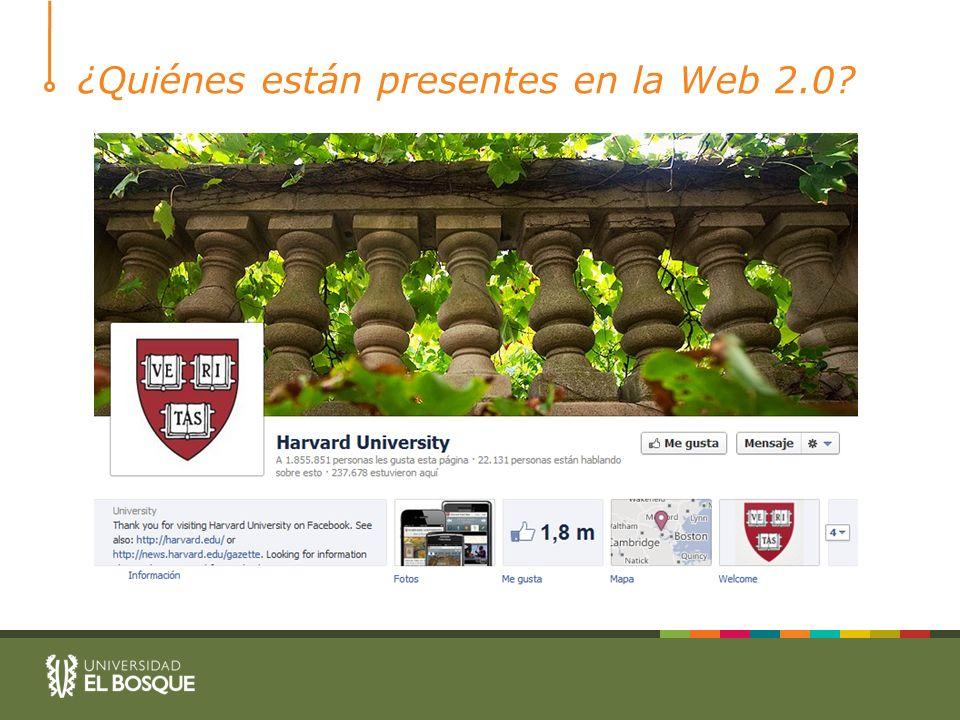 ¿Quiénes están presentes en la Web 2.0?