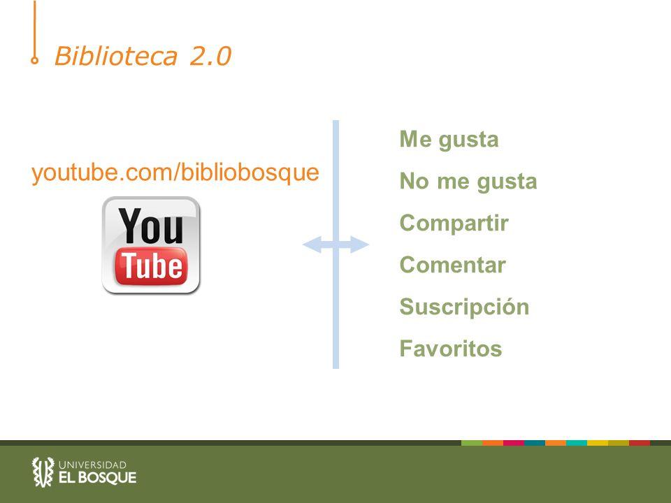 Biblioteca 2.0 Me gusta No me gusta Compartir Comentar Suscripción Favoritos youtube.com/bibliobosque
