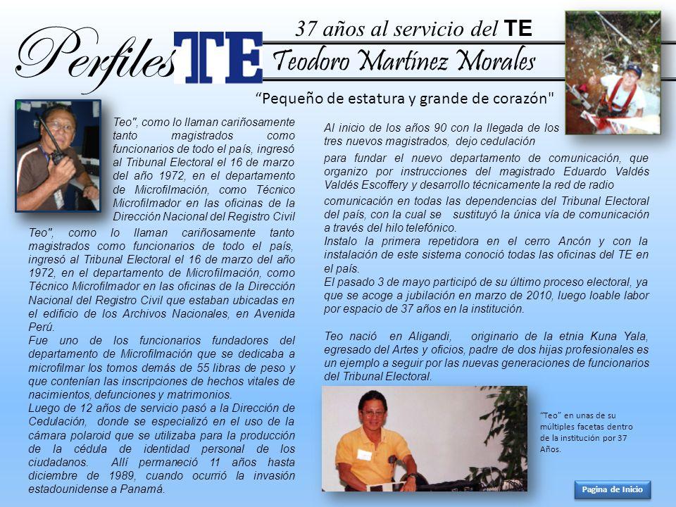 Teodoro Martínez Morales Perfiles Teo