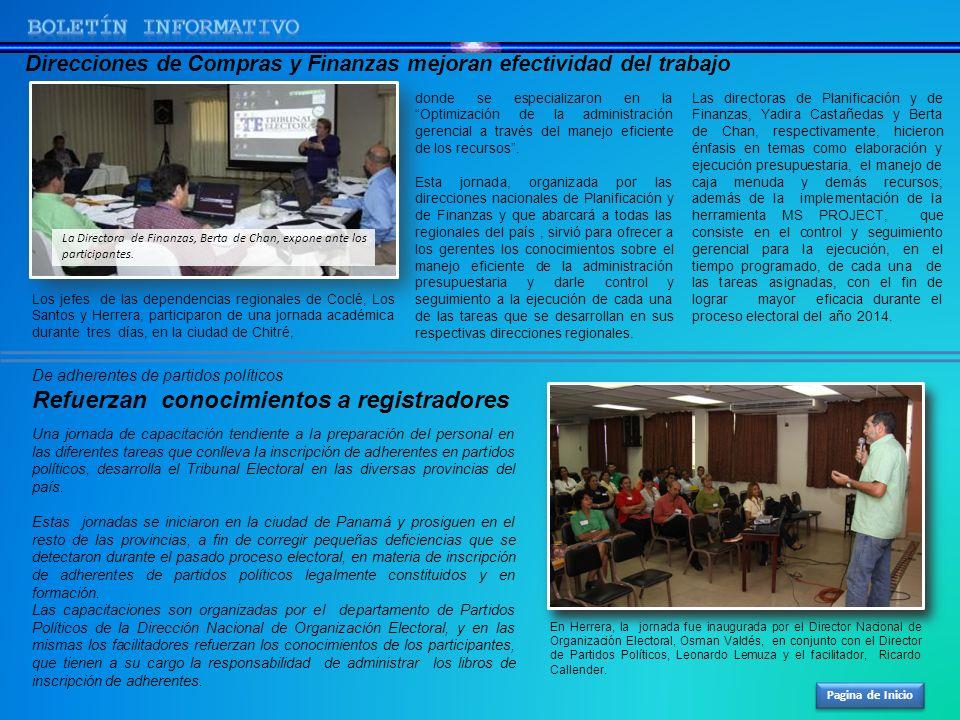 Pagina de Inicio Los jefes de las dependencias regionales de Coclé, Los Santos y Herrera, participaron de una jornada académica durante tres días, en