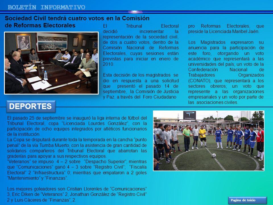 Pagina de Inicio pro Reformas Electorales, que preside la Licenciada Maribel Jaén. Los Magistrados expresaron su anuencia para la participación de est