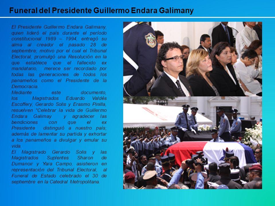 El Presidente Guillermo Endara Galimany, quien lideró el país durante el período constitucional 1989 – 1994, entregó su alma al creador el pasado 28 d