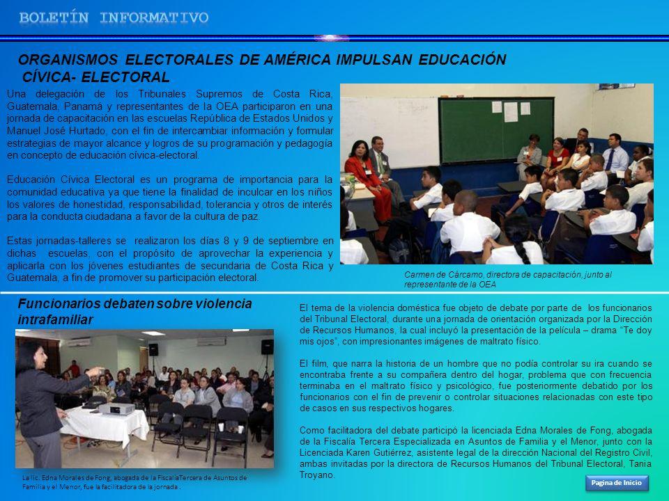 Pagina de Inicio Una delegación de los Tribunales Supremos de Costa Rica, Guatemala, Panamá y representantes de la OEA participaron en una jornada de