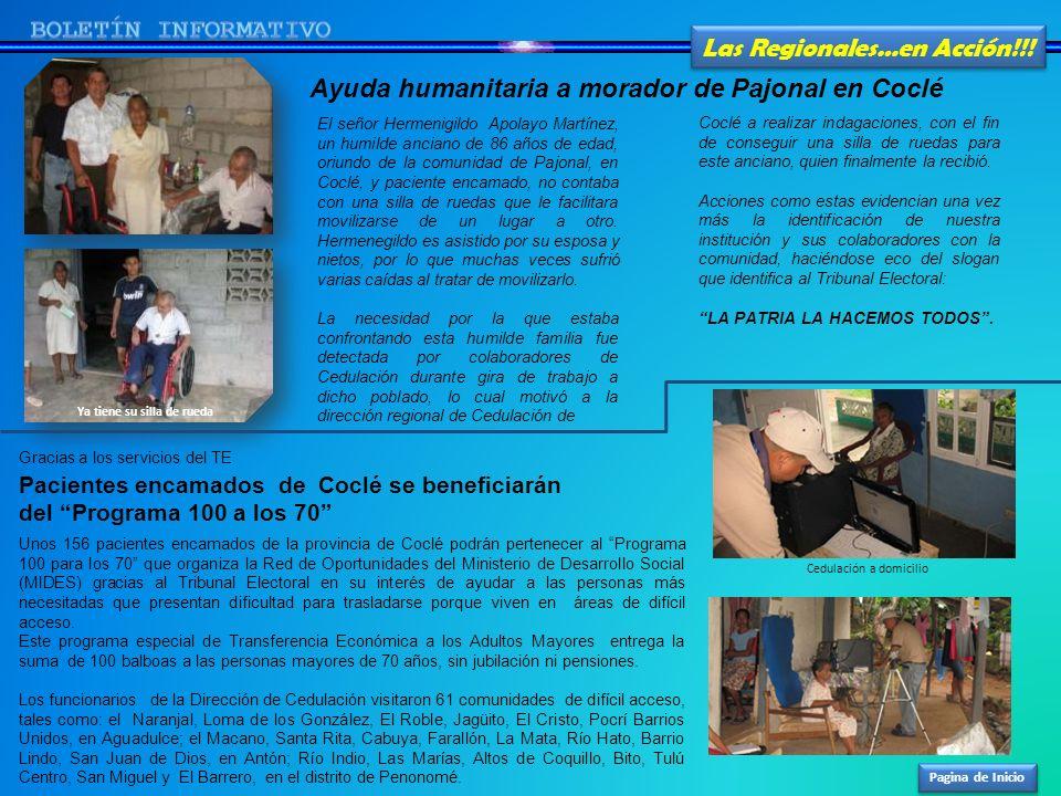 Pagina de Inicio Las Regionales…en Acción!!! El señor Hermenigildo Apolayo Martínez, un humilde anciano de 86 años de edad, oriundo de la comunidad de