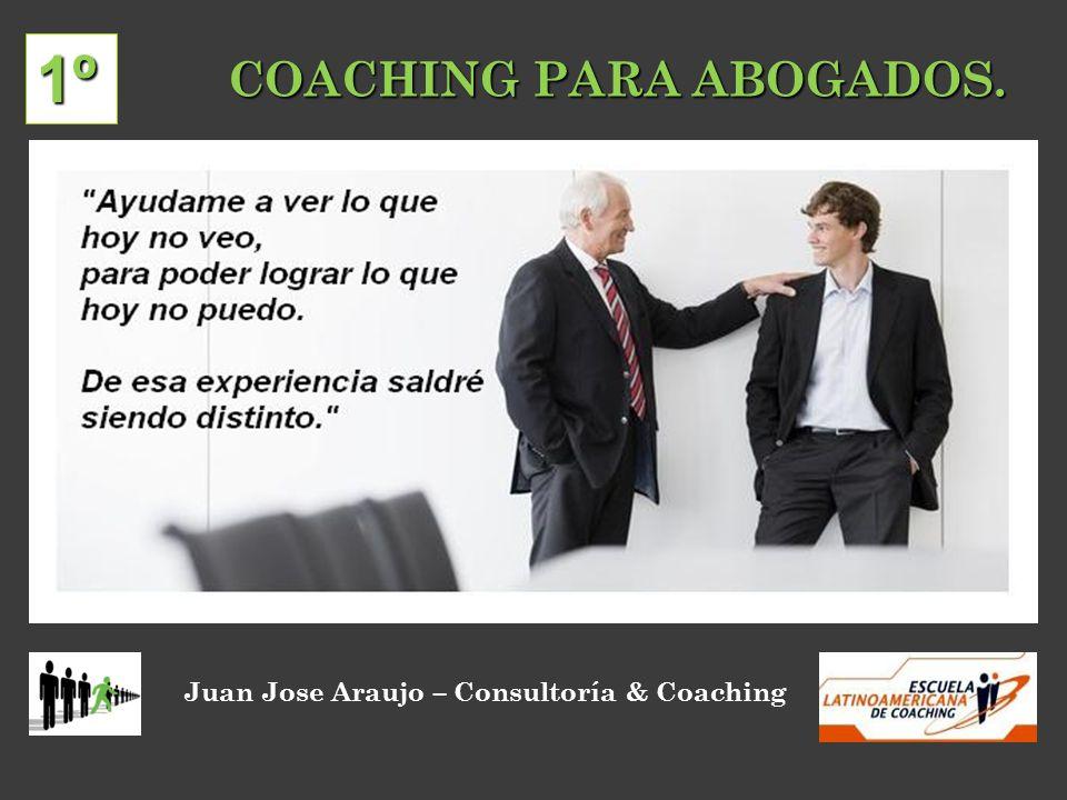 COACHING PARA ABOGADOS. Juan Jose Araujo – Consultoría & Coaching 1º