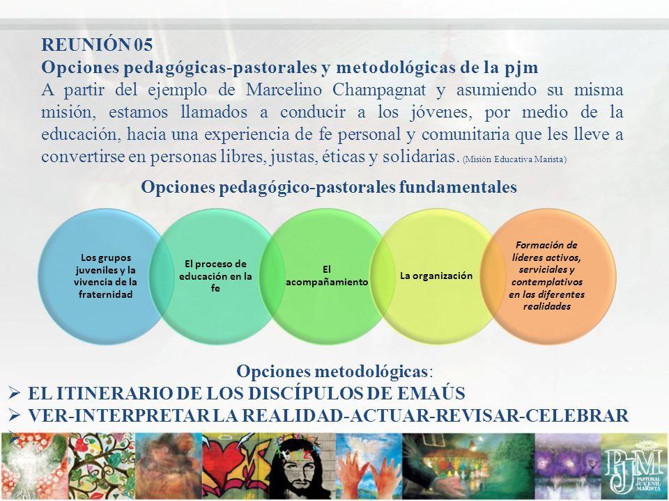 Opciones pedagógicas-pastorales y metodológicas de la pjm A partir del ejemplo de Marcelino Champagnat y asumiendo su misma misión, estamos llamados a