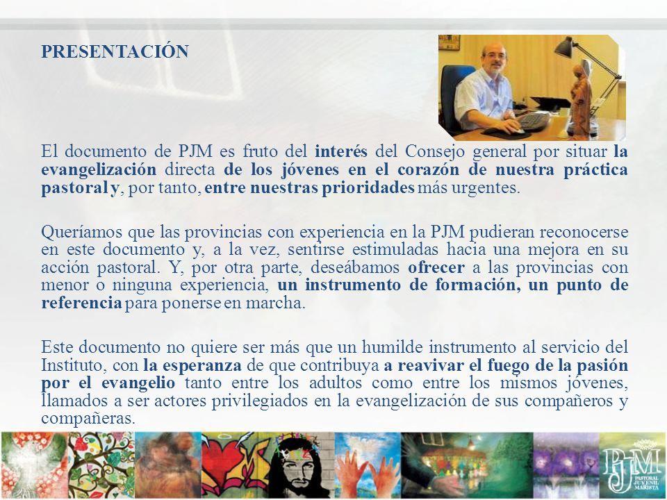 Objetivos: 1.Profundizar sobre la importancia de la PJM en la realización de la misión marista.