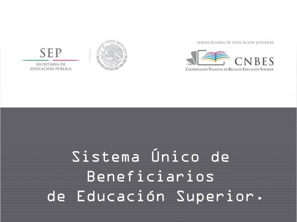 Sistema Único de Beneficiarios de Educación Superior.
