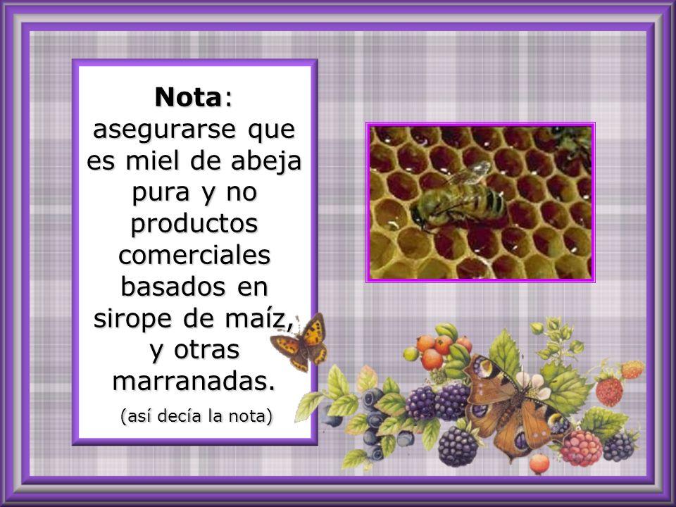 Tome cada cuatro horas una cucharada de miel mezclada con media de Vinagre de Sidra.
