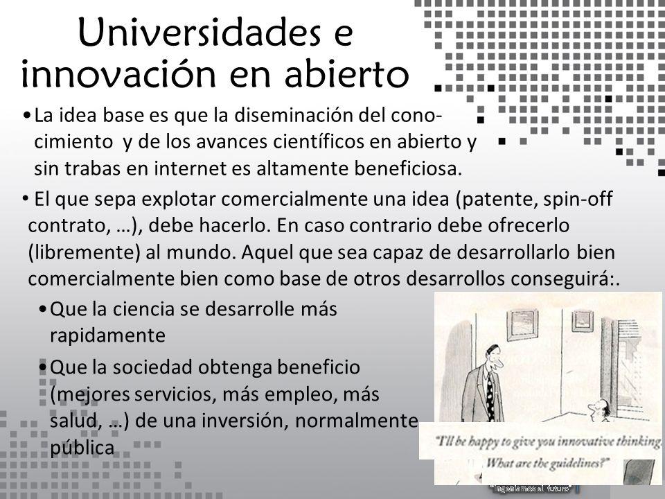 La idea base es que la diseminación del cono- cimiento y de los avances científicos en abierto y sin trabas en internet es altamente beneficiosa.