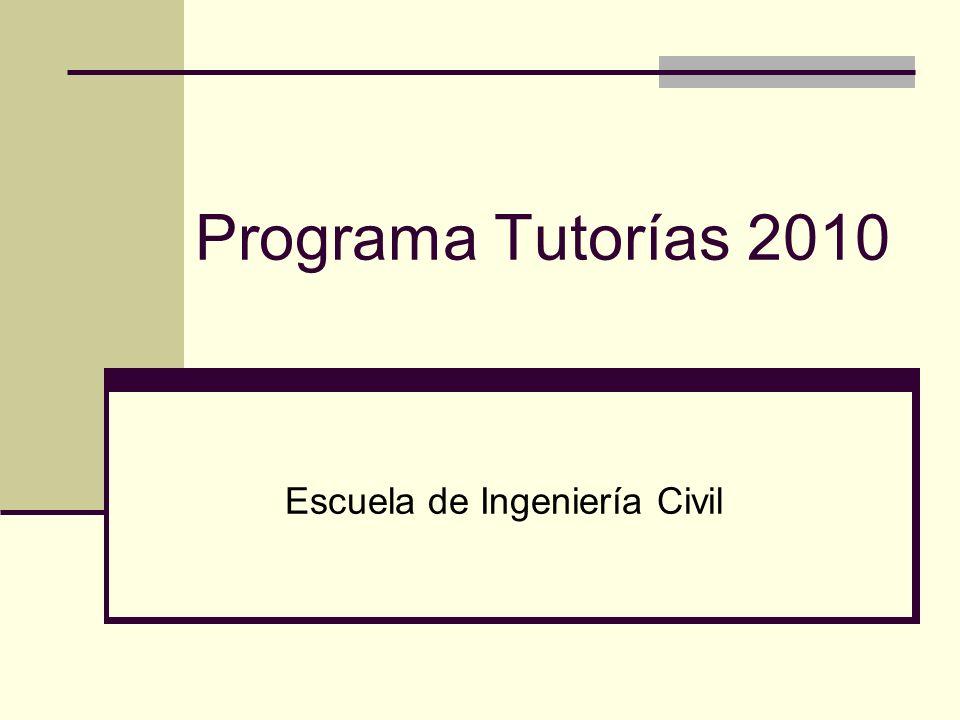 Programa Tutorías 2010 Escuela de Ingeniería Civil