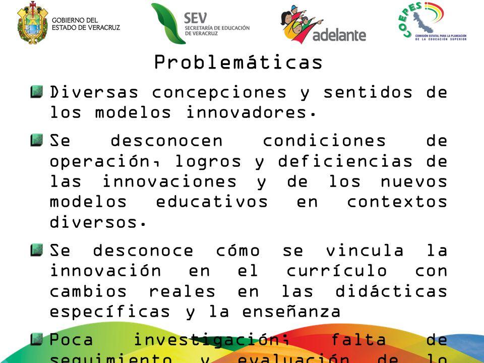 Problemáticas Diversas concepciones y sentidos de los modelos innovadores.