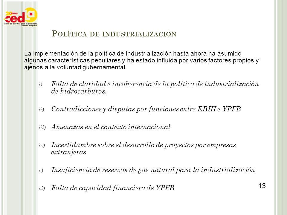 La implementación de la política de industrialización hasta ahora ha asumido algunas características peculiares y ha estado influida por varios factor