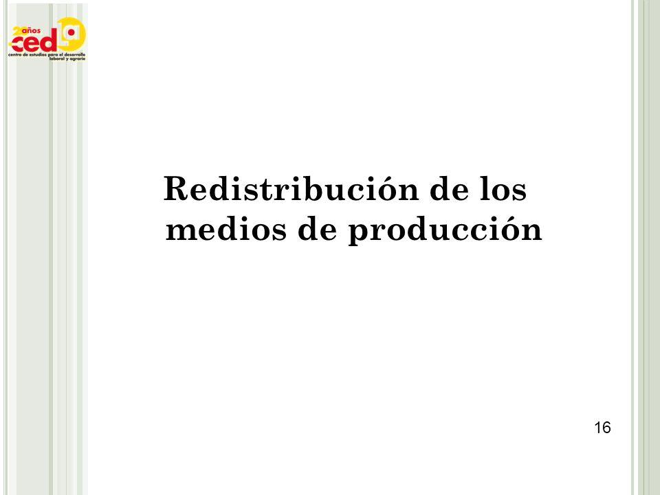 Redistribución de los medios de producción 16