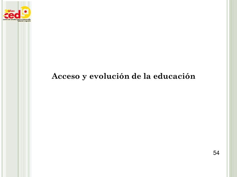 Acceso y evolución de la educación 54