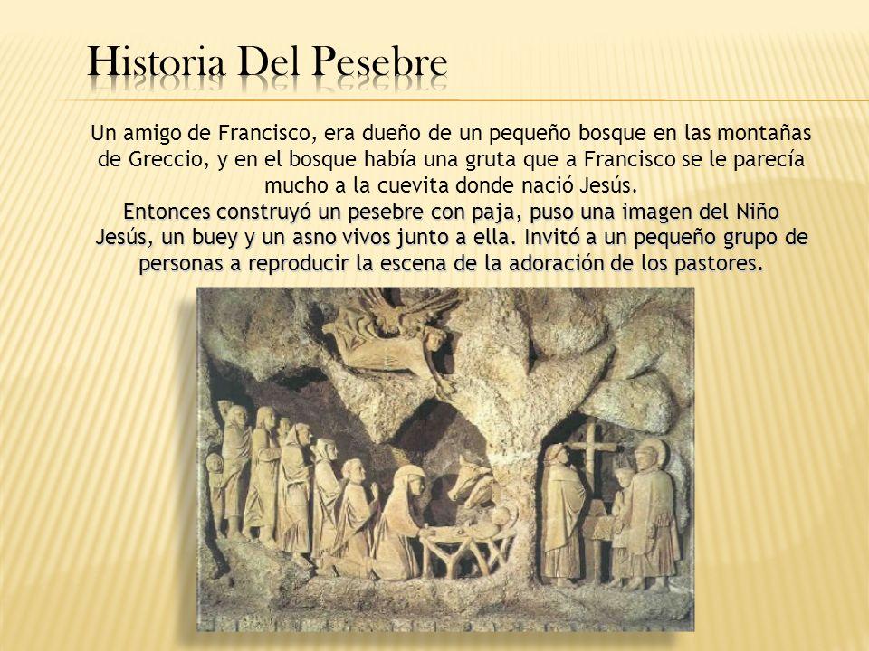 Un amigo de Francisco, era dueño de un pequeño bosque en las montañas de Greccio, y en el bosque había una gruta que a Francisco se le parecía mucho a