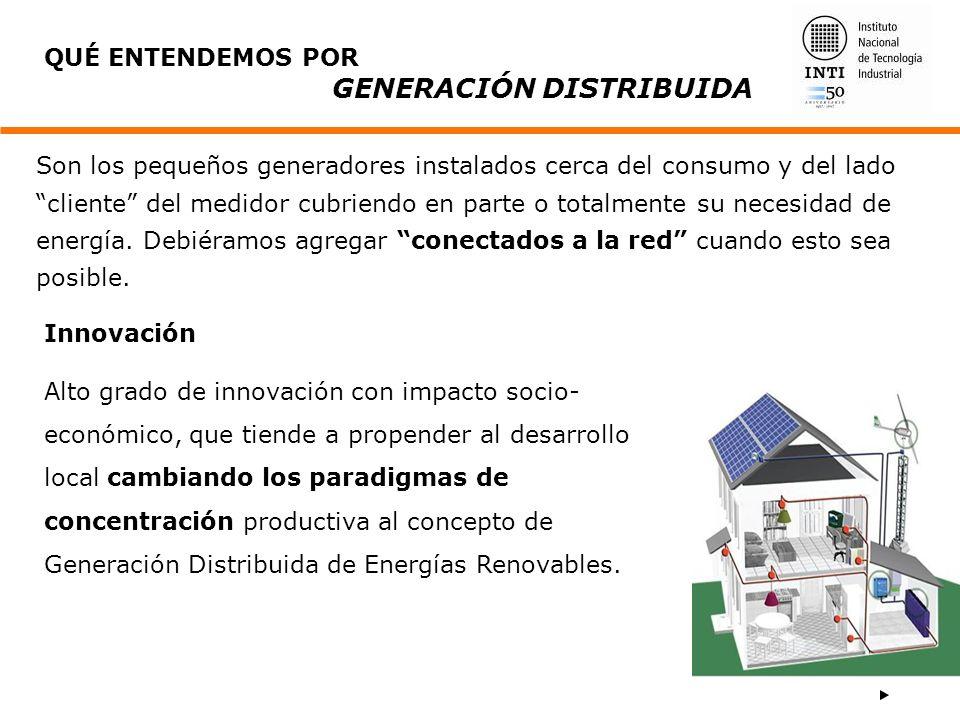 Son los pequeños generadores instalados cerca del consumo y del lado cliente del medidor cubriendo en parte o totalmente su necesidad de energía. Debi