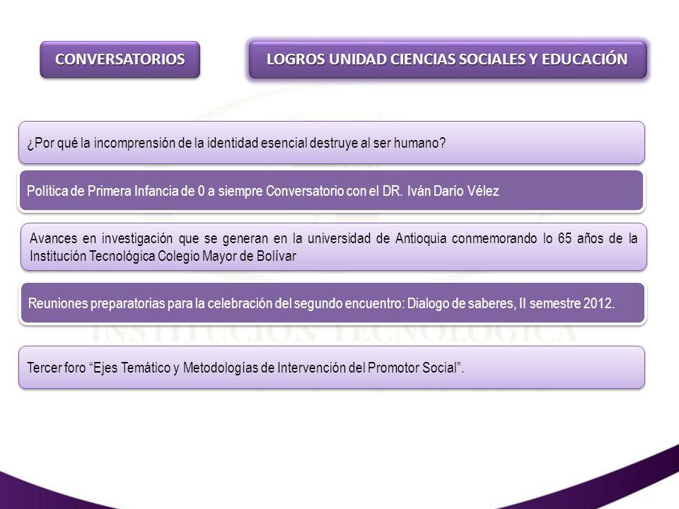 LOGROS UNIDAD CIENCIAS SOCIALES Y EDUCACIÓN XIII Congreso Solar del 11 al 14 de Septiembre 2012.