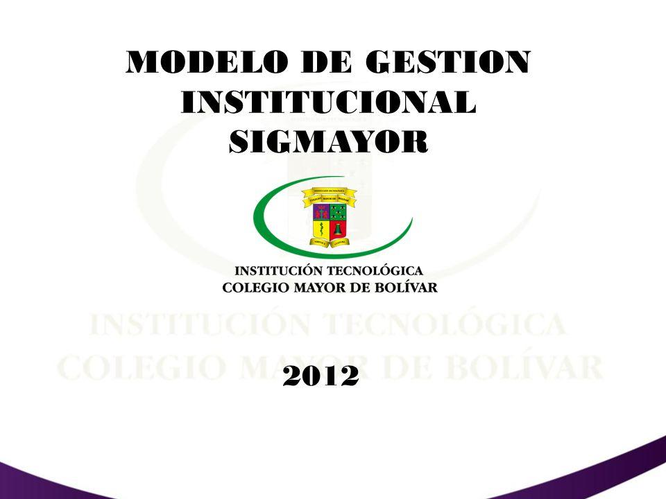 QUE ES EL MODELO DE GESTION INSTITUCIONAL SIGMAYOR.
