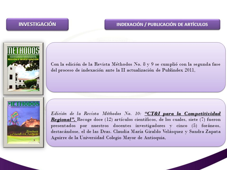 INVESTIGACIÓNINVESTIGACIÓN PARTICIPACIÓN EN EVENTOS REGIONALES, NACIONALES E INTERNACIONALES DE INVESTIGACIÓN.