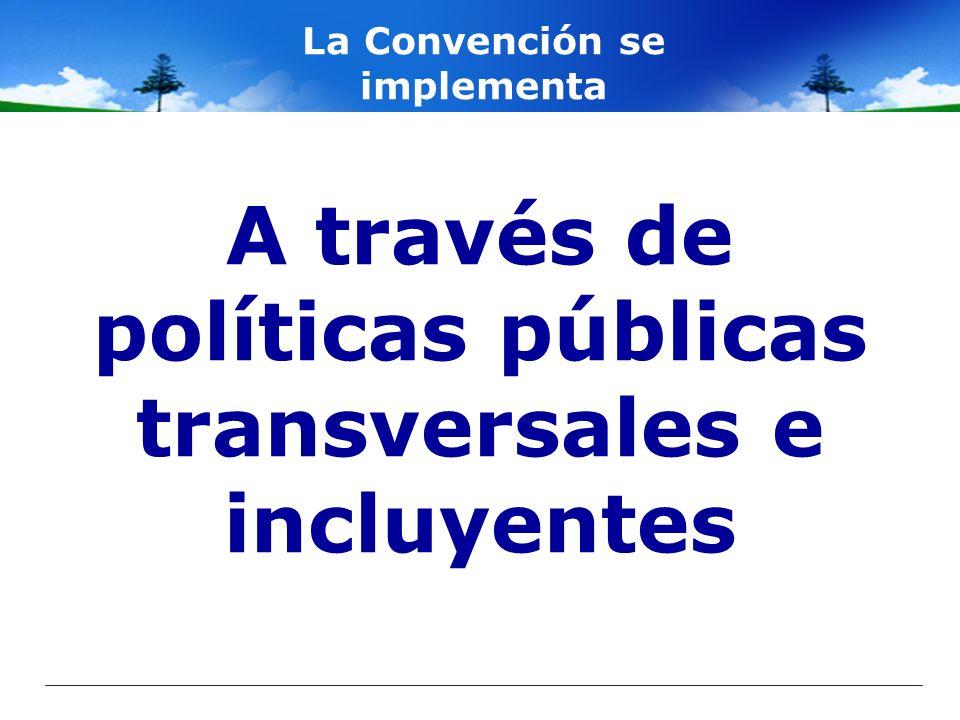A través de políticas públicas transversales e incluyentes La Convención se implementa