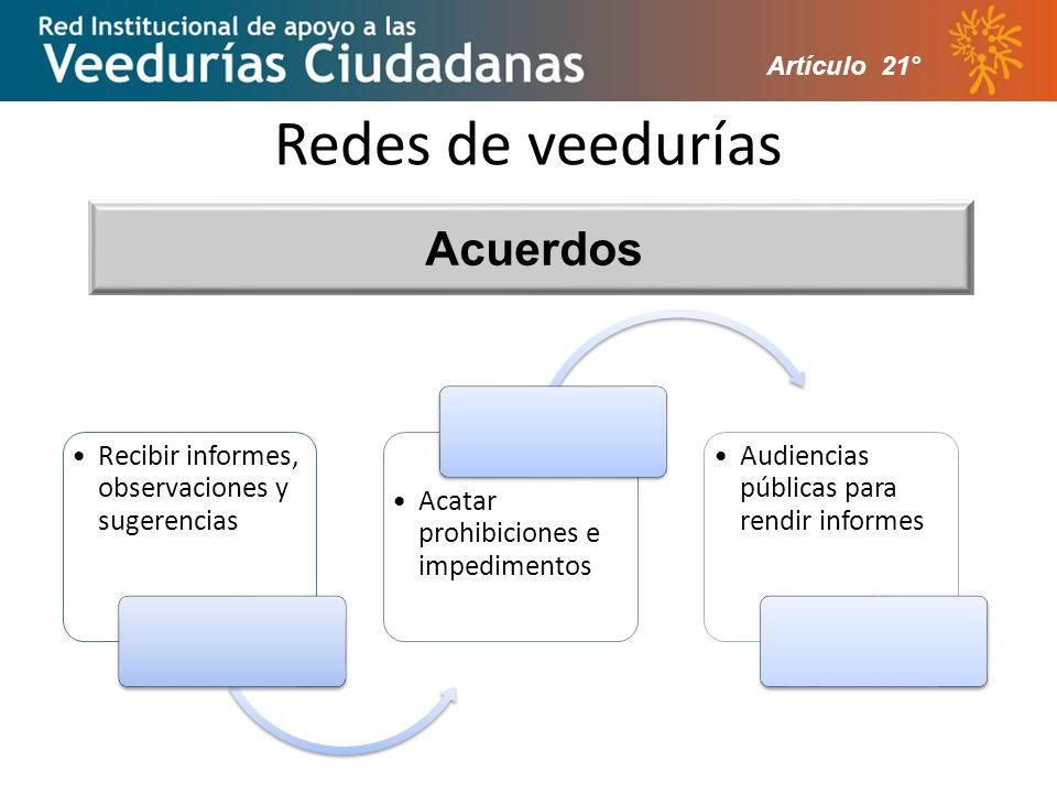 Redes de veedurías Acuerdos Artículo 21°